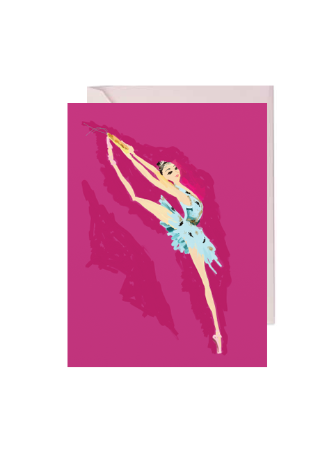 Ballet Lover Folded Note Card
