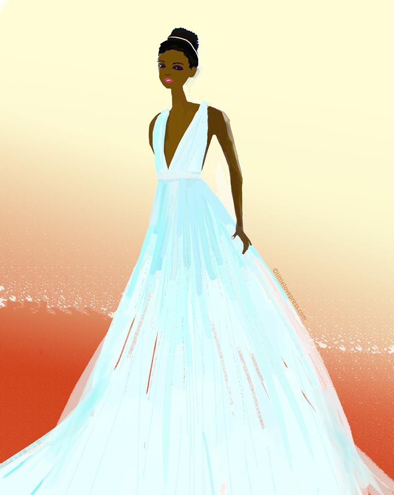 Fashion illustration custom portrait