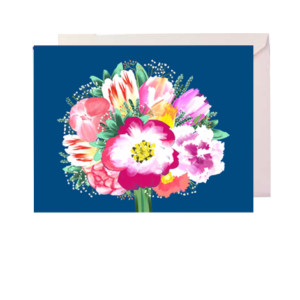 Tulips and Peonies Folded Note Card