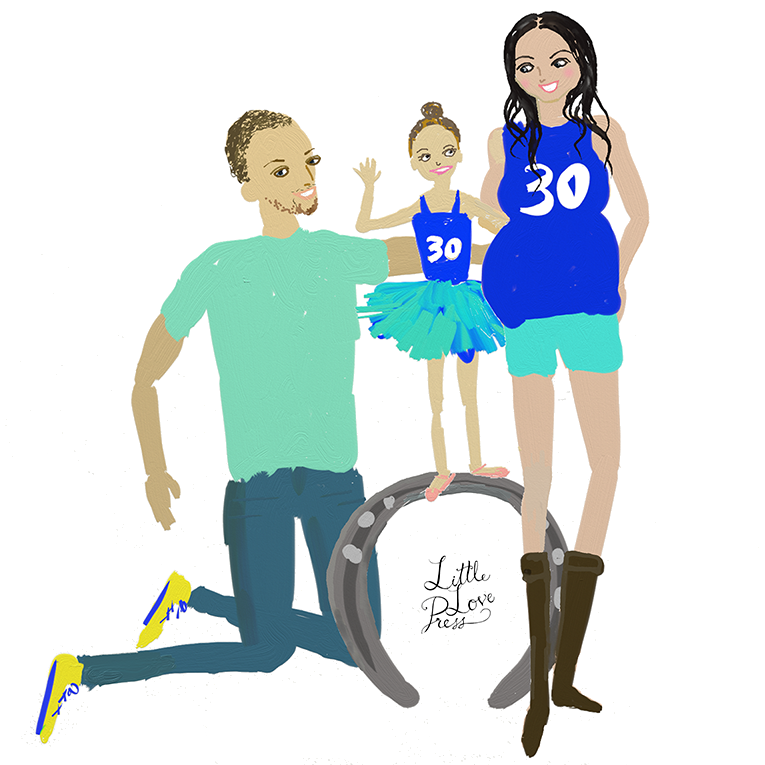custom fashion illustration family portrait