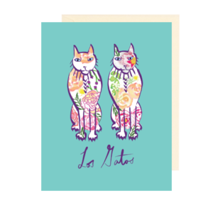Los Gatos Folded Note Card for Cat Lovers