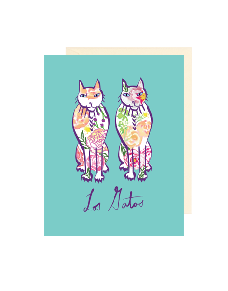 little-love-press-los-gatos-cats-note-card