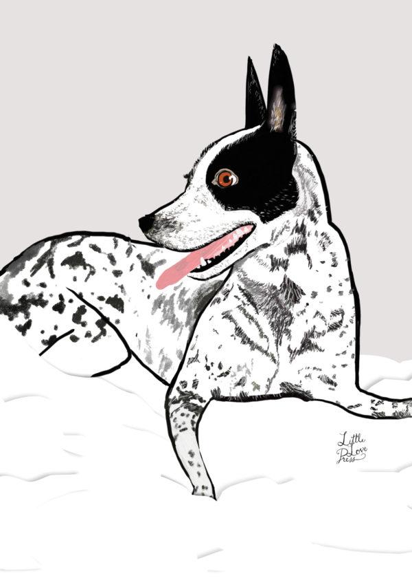 little love press custom pet portrait illustration