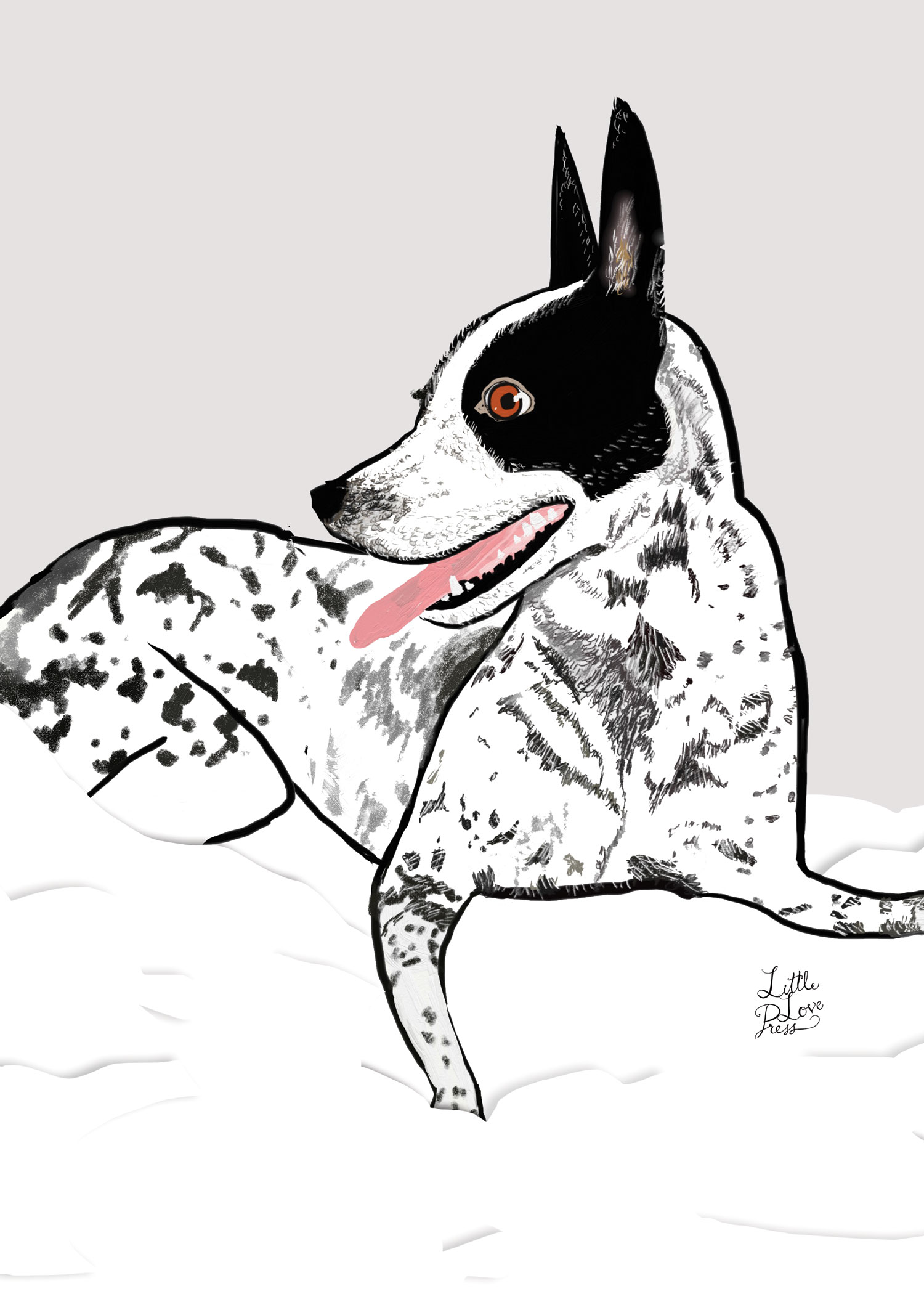 little love press custom pet portrait illustration
