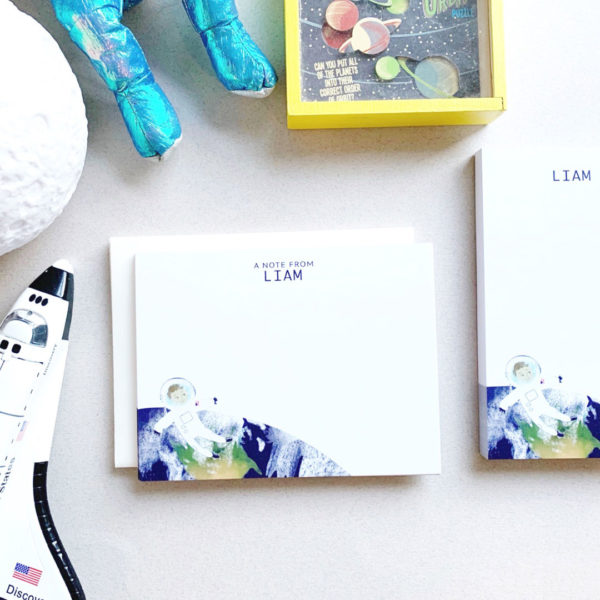 astronaut stationery set for kids