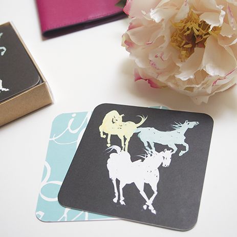 Equestrian Coasters from Little Love Press