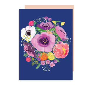 Peony and Anemone Note Card