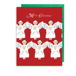 Snow Angels Merry Christmas Holiday Note Card