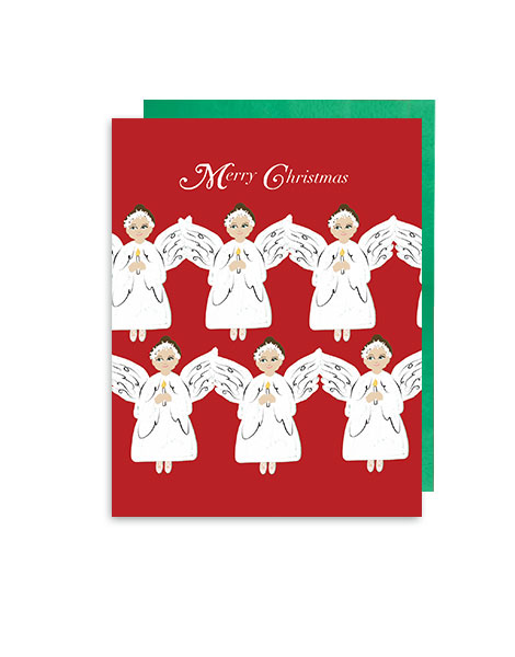 little love press angels holiday note card