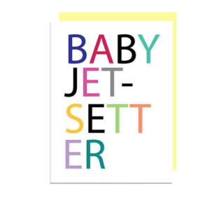 Baby Jetsetter Folded Note Card