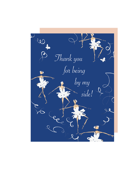 little love press ballet thank you folded note card