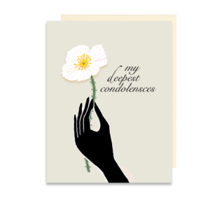 My Deepest Condolences Poppy Folded Note Card