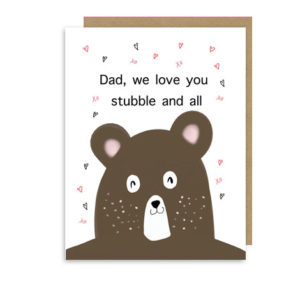 Father's Day Stubble Bear Love Note Card