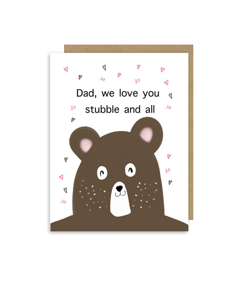 little-love-press-fathers-day-stubble-bear-note-card