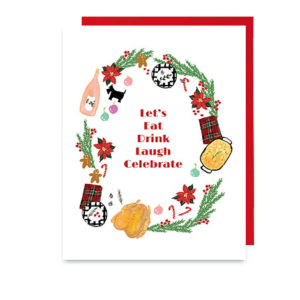 Eat Drink Laugh Celebrate Holiday Tablescape Note Card