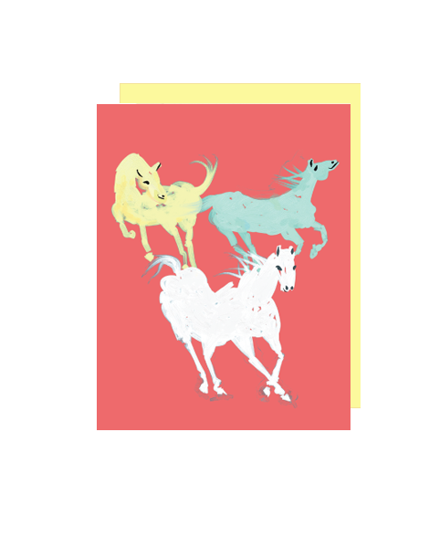 little love press equestrian folded note card