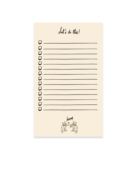 fist bump cats notepad