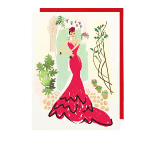 Flamenco Lover Folded Note Card