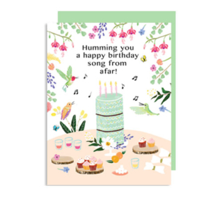 Humming You a Happy Birthday Song Hummingbird Note Card