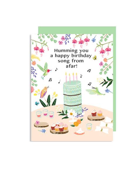 little-love-press-hummingbird-birthday-folded-note-cardlittle-love-press-hummingbird-birthday-folded-note-card