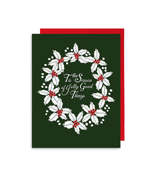 little love press jolly good things holiday note card