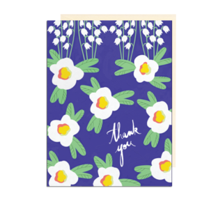 Retro Lily of the Valley Thank You Note Card