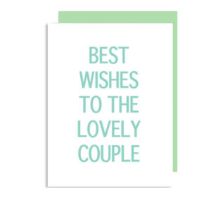 Best Wishes to the Lovely Couple Folded Note Card