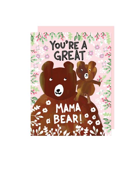 little love press mama bear folded note card