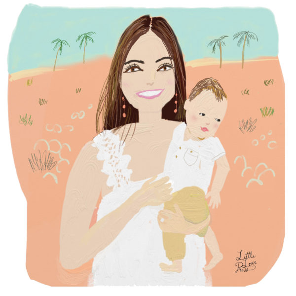 mom_and_baby_custom_illustrated_portrait