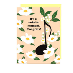 It's a Notable Moment Folded Note Card