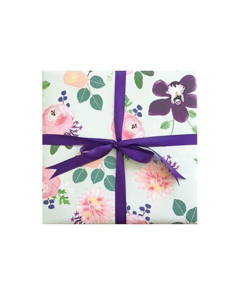 little love press orchid wrapping paper