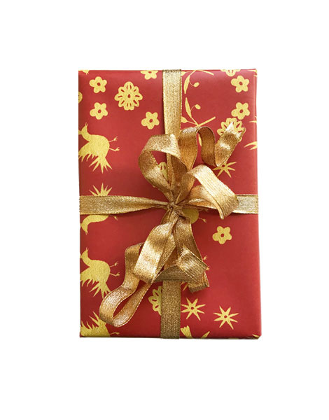 Otomi holiday wrapping paer