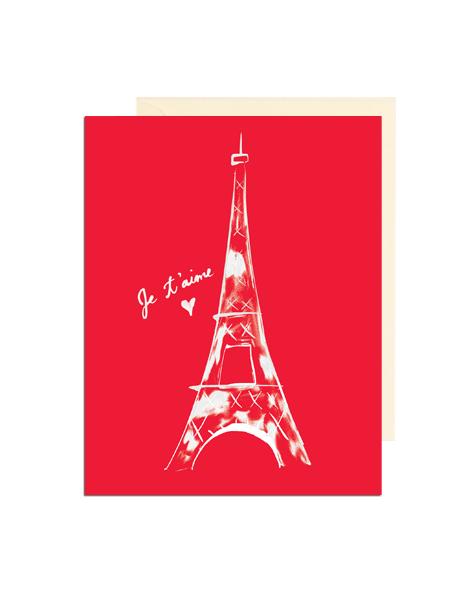 Eiffel Tower Valentine's Card