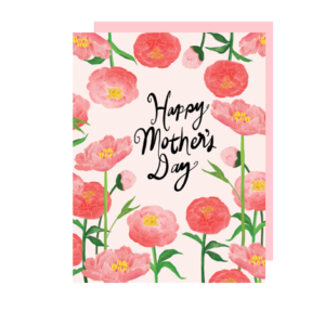 Peonies Mother's Day Note Card