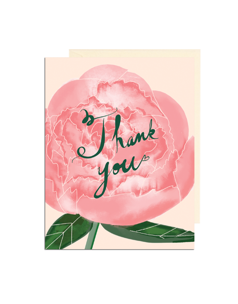 Pink and black note cards Thank you notes Perosnalized Note Cards Pink Peony Foral Stationery Folded Note Cards Folded Note Cards Peony