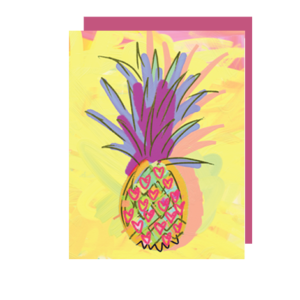 Pineapple Lover Folded Note Card