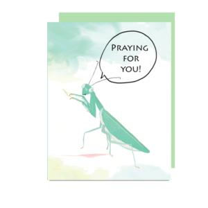 Praying Mantis Note Card