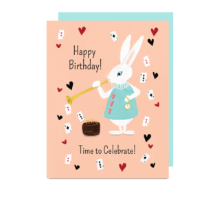 Rabbit Birthday Note Card