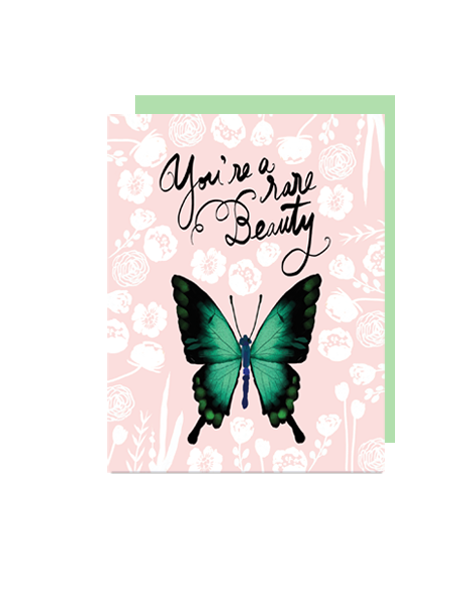 little love press rare beauty folded note card