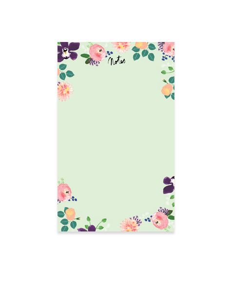 Little Love Press Roses Notepad