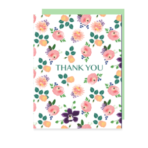 Roses Thank You Note Card
