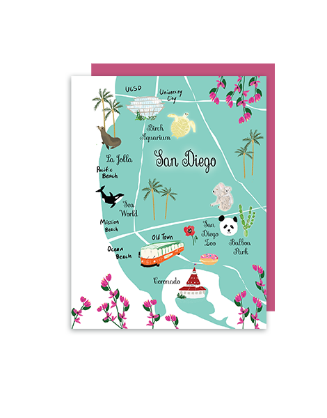 little-love-press-san-diego-map-folded-note-card
