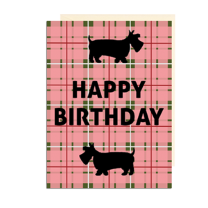 Scottie Dog Happy Birthday Card