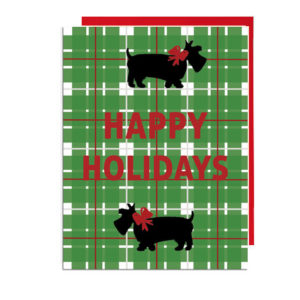 Scottie Dogs Happy Holidays Card