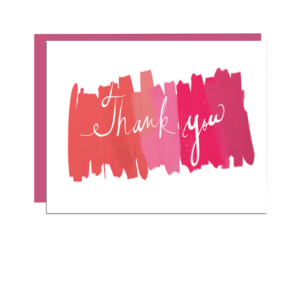 Painterly Thank You Folded Note Card