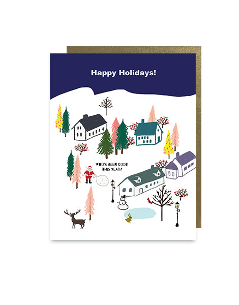 little love press town holiday note card