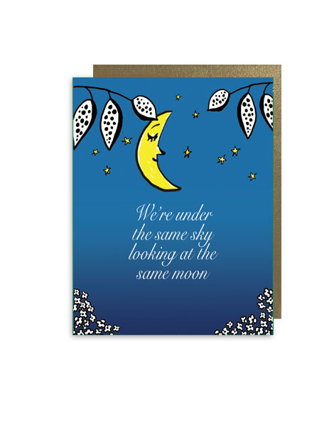 little-love-press-under-the-same-sky-folded-note-card