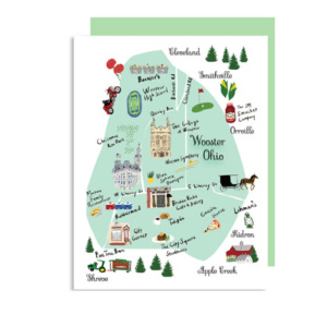 Wooster OH Map Note Card