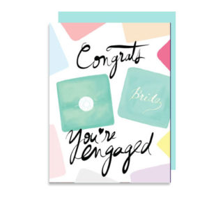 Congrats You Are Engaged Folded Note Card