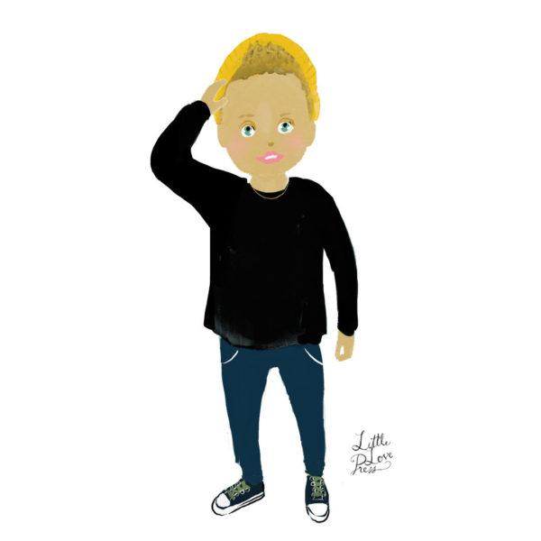 littlelovepress custom child portrait